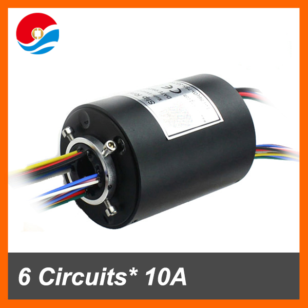 Through hole slip ring assembly 12.7mm hole size 6circuits each 10A and 12 circuits signal