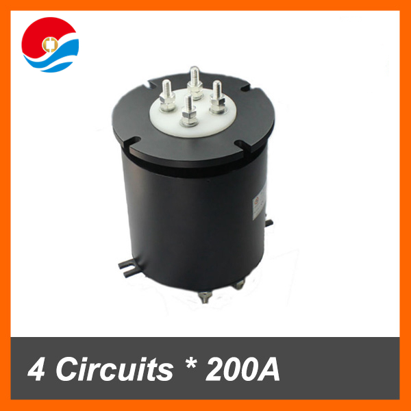 High current slip ring 200A with 4 circuits