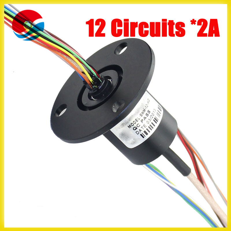 Capsule 12 circuit, 2A HD-SDI Slip Rings(1080P) for medical equipment supply
