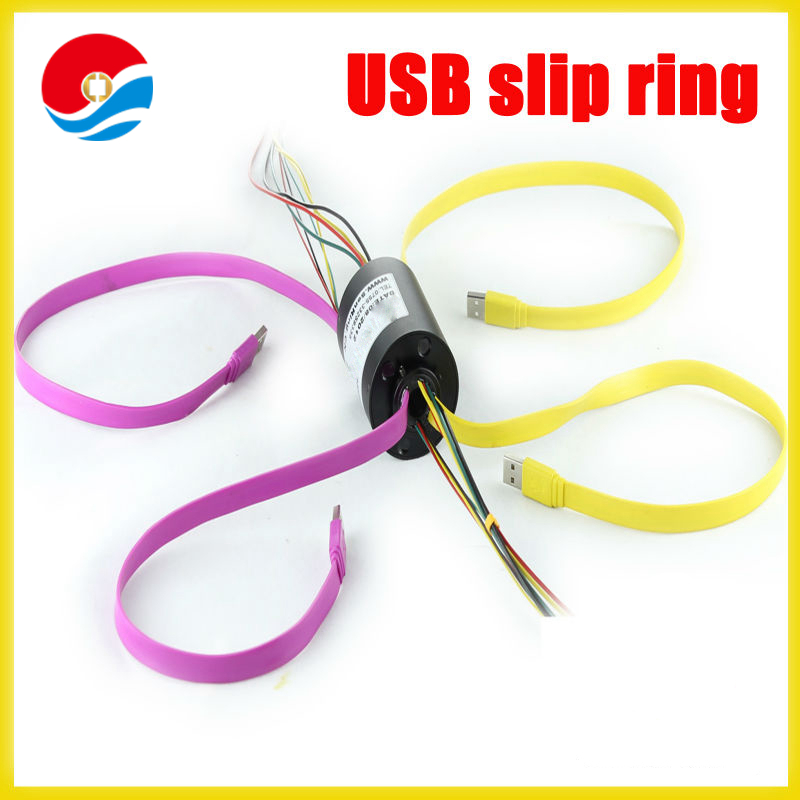 USB Slip Rings 2.0 1394 with through hole