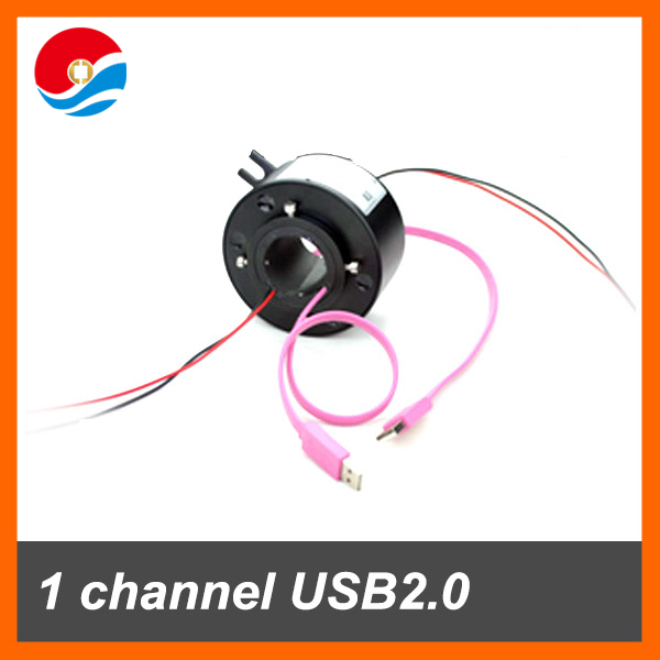 1 channel USB 2.0 with through hole 25.4mm of USB through hole slip ring