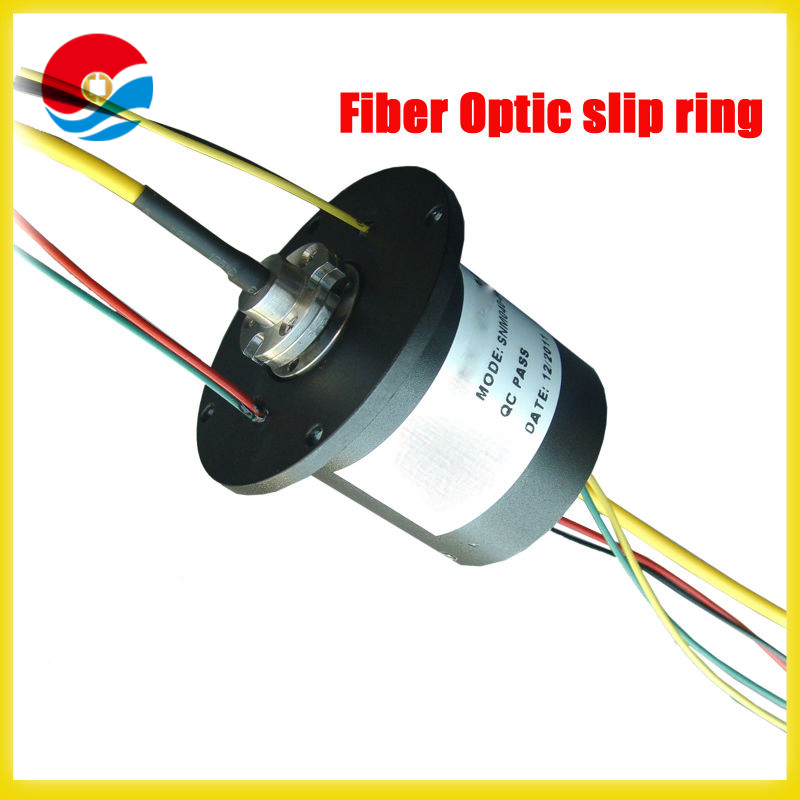 4wires electric circuits rotary joint Fiber Optic-electric Slip Ring