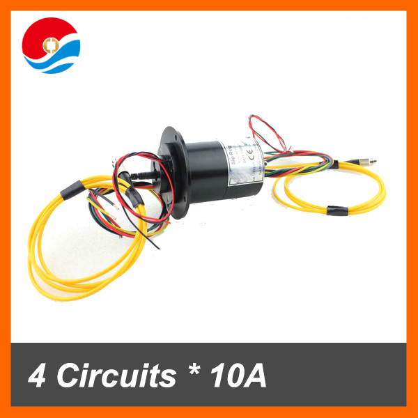 1 Channel signal fiber optic slip ring with 4 circuits 10A and 2 circuits signal of electrical fiber optic slip ring