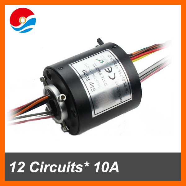 Electronics assembly connector 12 circuits 10A with hole size 12.7mm through bore slip ring