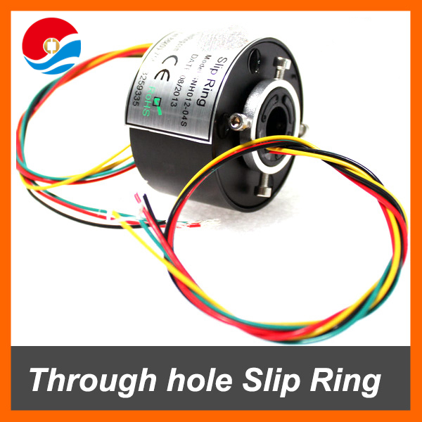 Through hole Slip Ring/rotary joints 12.7mm hole size with 4 circuits CE,ROHS certificated