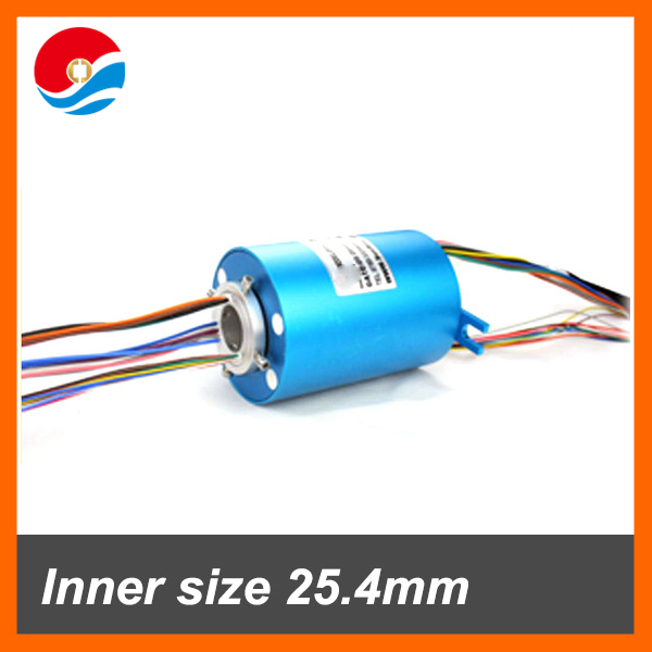 Shenzhen manufacturer of Through bore Slip Ring hole size 25.4mm 12+24 circuits CE,ROHS certificated