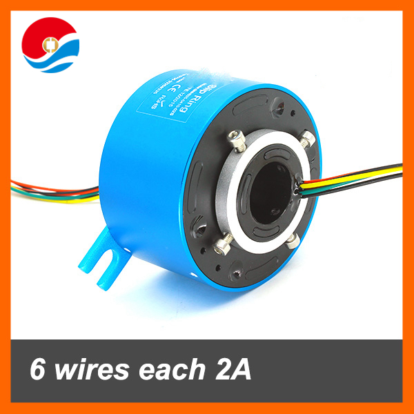 Hot selling slipring 6 wires each 2A with bore size 25.4mm