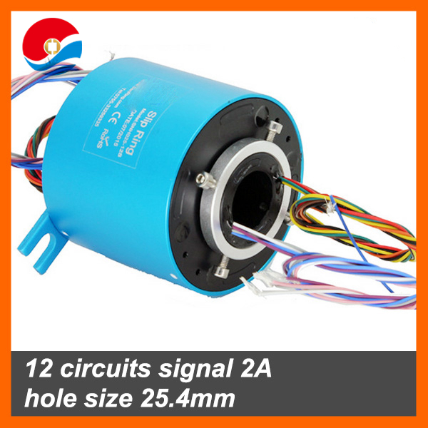 Rotary joint 12 wires/circuits hole size 25.4mm slip ring