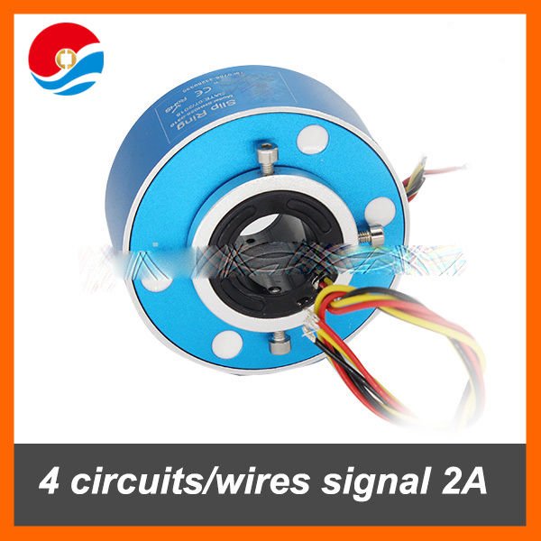 Through bore slip ring 4 wires 20A hole size 25.4mm