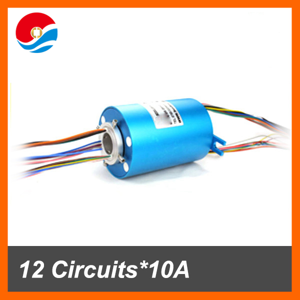 Conductive through hole Slip Ring 12 circuits 10A of bore size 38.1mm