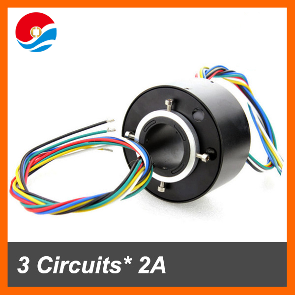 Slip ring rotor 3 cicuuits/wires signal with hole size 1.5''(38.1mm) through bore slip ring