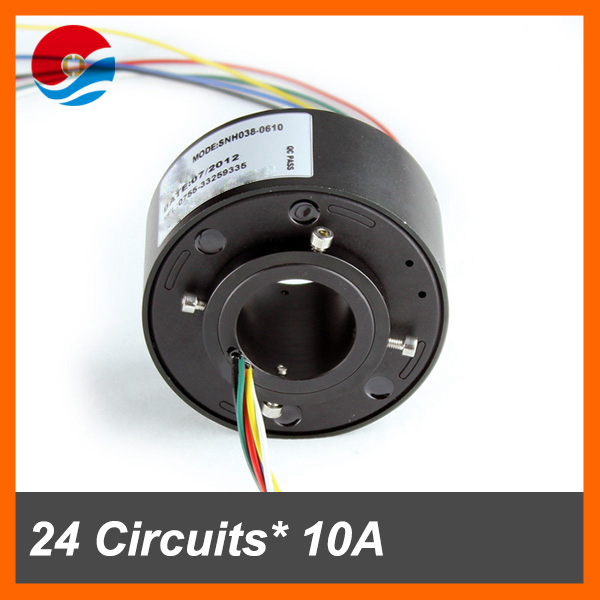Slip ring induction motor 24 ciruicts 10A with bore size 38.1mm of through hole slip ring