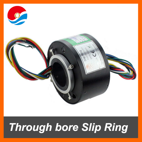 300RPM electrical contacts of through bore Slip Ring 6 circuits 10A with hole size 38.1mm