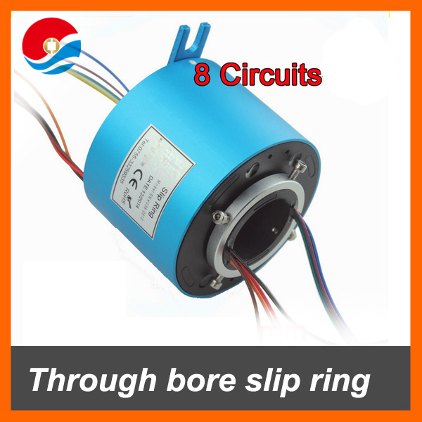 Through bore slip ring 8 wires each 10A with hole size 38.1mm, OD 99mm