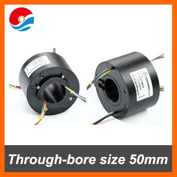 Sliver plated rings 50mm of through bore slip ring SNH050