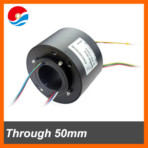 Electrical rotate joint 2 circuits/wires 10A and 2 signal current through bore 50mm(2'') slip ring