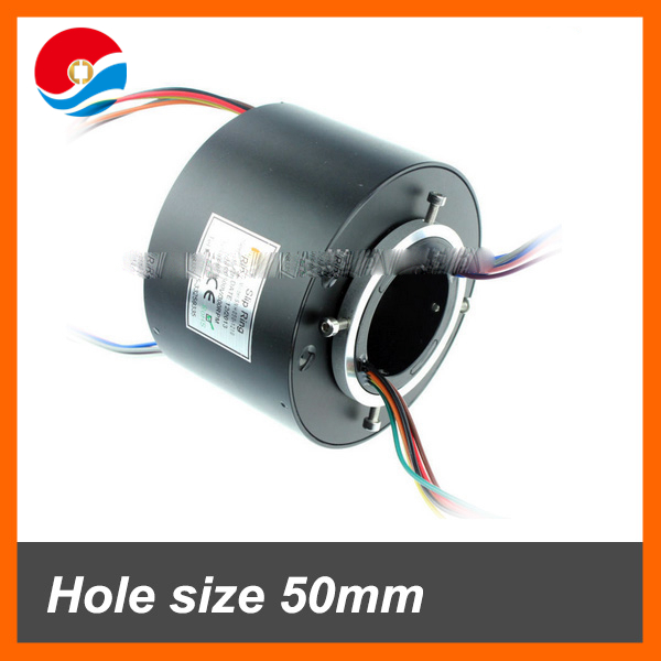 Electrical contacts 12 circuits signal 2A with through bore size 50mm slip ring
