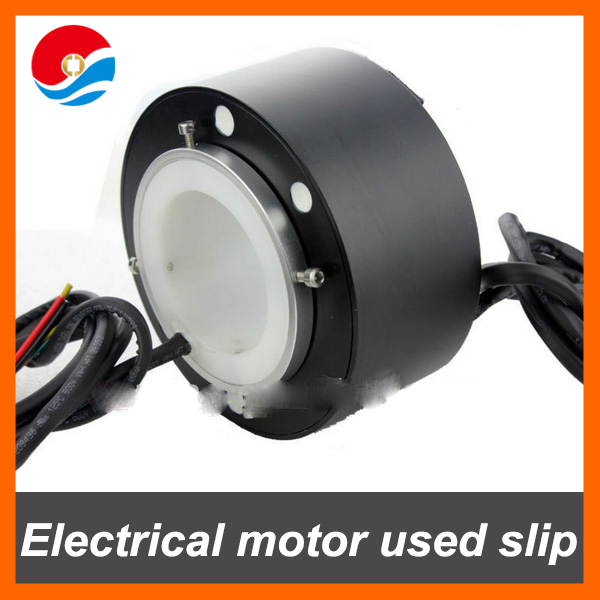 Electrical motor used slip ring 10A/12 circuits contact of through bore 60mm