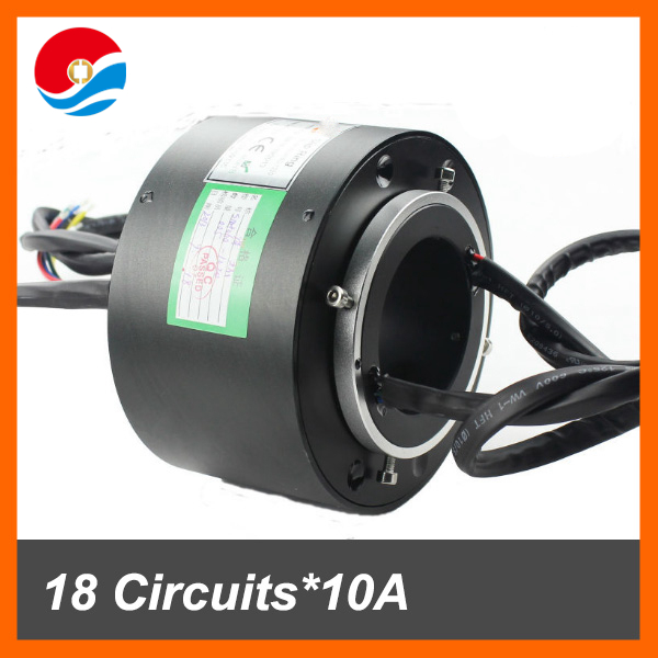 Conductive connector SNH060/ 60mm hole size 18 circuits 10A of through bore slip ring